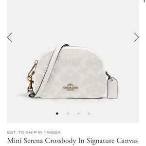 Coach Mini Serena Crossbody In Signature Canvas